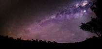 The Milky Way and Venus above Rural NSW