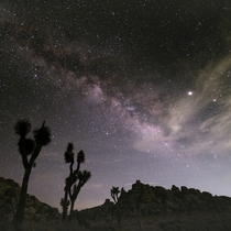 The Milky Way as seen from Joshua Tree NP