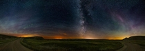 The Milky Way as seen from the badlands of Southern Alberta Canada