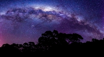 The Milky Way as shot in Tasmania Australia