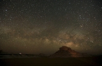 The Milky Way as visible from the desert southwest of Cairo