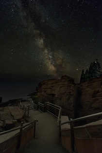 The Milky Way from Acadia National Parks Thunder Hole