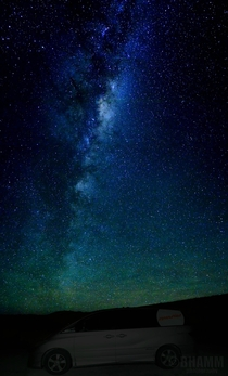The Milky Way from Lake Tekapo New Zealand And my camper van of course