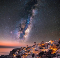 The Milky Way from Santorini Greece