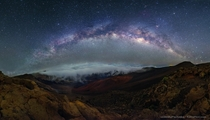The Milky Way from the summit of the Haleakal volcano Maui Hawaii