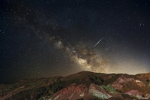 The Milky Way Galaxy at Artists Palette Death Valley