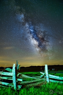 The Milky Way hopping a fence over at Big Meadows in Shenandoah National Park VA