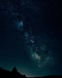 The milky way in blue and cream