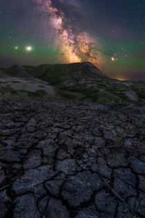 The milky way in one of the darkest places in Canada Grasslands National Park