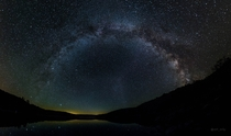 The Milky Way in Spruce Knob West Virginia - One of the darkest spots in East US