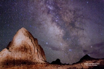 The Milky Way observed over Capitol Reef NP Utah Photo by Wally Pacholka