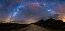 The Milky Way over Alabama Hills CA  photo by Michael Shainblum