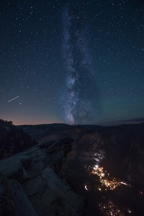 The Milky Way over Curry Village Yosemite I still refuse to call it Half Dome Village