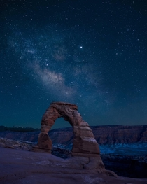 The Milky Way over Delicate Arch UT