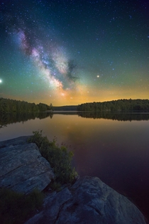 The Milky Way over Head Lake Algonquin Park Canada  Social mikemarkov