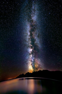 The Milky Way over lake titicaca Peru  x-post from rpics