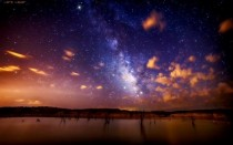The Milky Way over Pueblo Reservoir Colorado