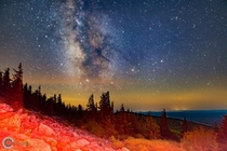 The Milky Way over Spruce Knob Peak WV This place is considered the darkest peak throughout the entire East Coast