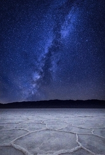The Milky Way over the Bonneville Salt Flats