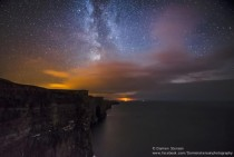 The Milky Way over The Cliffs of Moher Ireland