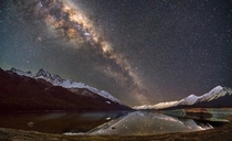 The Milky Way over the Mavora Lakes  Photographed by Tom Hall