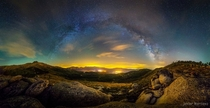 The Milky Way over the Valley of the Five Towns - Avila Province Spain  by Javier Martinez Moran