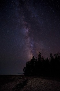 The Milky Way rising over Acadia National Park Maine USA