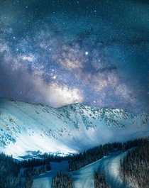 The Milky Way rising over Arapahoe Basin Colorado