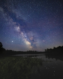 The Milky Way rising over Hiawatha National Forest