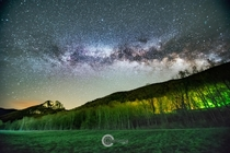 The Milky Way rising over Seneca Rocks WV