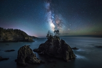 The Milky Way shines bright in Samuel H Boardman State Park