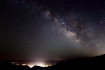 The Milky Way Shining Over The Wasatch Mountains