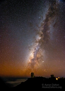 The Milky Way Stretching Over Haleakala Summit in Hawaii