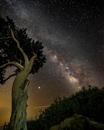 The Milkyway Galaxy hangs over Mt Evans Wilderness Clear Creek County Colorado Backcountry OC x
