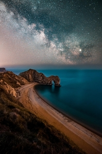 The Milkyway over Durdle Door Dorset UK