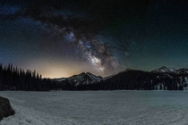 The Milkyway over Long Peak in Colorado