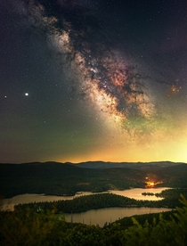 The Milkyway Rises Over Eldorado National Forest in California