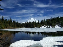 The Mirror in Mirror Lake reappearing Mt Hood National Forest OR