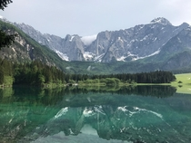The mirroring effect at the Lago di Fusine Italy