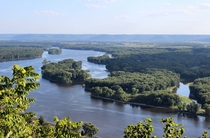 The Mississippi river at Alma Wisconsin