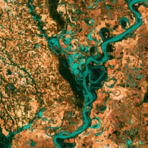 The Mississippi River on the ArkansasMississippi border