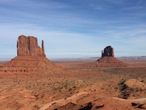 The Mittens in Navajo Nations Monument Valley USA