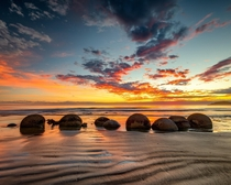 The Moeraki Boulders New Zealand