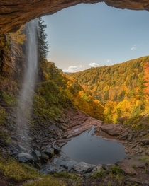 The moment a blast of wind blew Kaaterskill Falls crooked New York