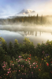The moment the fog cleared and revealed Mount Rainier Washington USA  IGJayKlassy