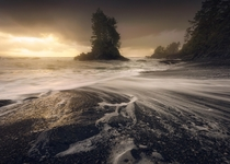 The moment the light broke through the clouds at the end of a storm on the West Coast of Vancouver Island  IG JayKlassy