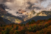The moment when the rain stopps and the sun finds a way to shine through the clouds Triglav National Park Slovenia  Insta alex_lauterbach