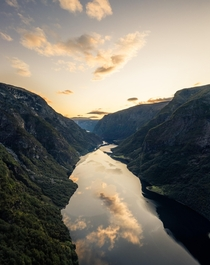 The moment you wake up and you realize it is a special sunrise - taken in Fjord Norway early morning at  am  - more of my landscapes at insta glacionaut