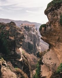 The monasteries of Meteora in central Greece built on top of steep cliffs