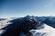 The Mont Blanc Massif France